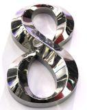 ミラーのチタニウムの金によってめっきされる#304ステンレス鋼の非照度の金属の文字の印