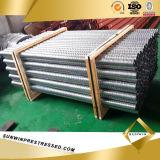 Galvanizado Metal Plana Corrugado Conducto para PC Strand