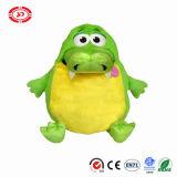 La peluche mignonne Tummystuffer de Gator de froussard vert badine le jouet de cadeau