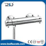 Misturador de banho termostático de dupla mão de bronze durável