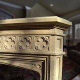 Lado de alta qualidade esculpidas em mármore Gótico Mantel Lareira para Home