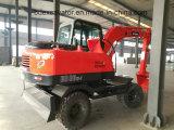Excavadores Bd80 de los excavadores de la rueda de China mini