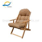 Armrest를 가진 움직일 수 있는 Wooden Lying Beach Chair