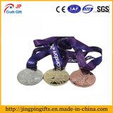 Medaglia fragile del metallo di alta qualità su ordinazione per lo sport