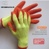 Calibres K-137 10 2 luvas de trabalho da segurança do látex do algodão do T/C da dobra das linhas