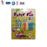 El neón del precio de fábrica colorea la vela decorativa espiral para la fiesta de cumpleaños