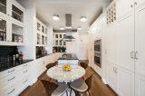 白いシェーカーの台所家具の純木の食器棚Yb-170488