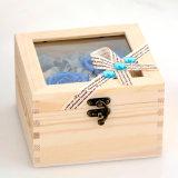 De houten Bewaarde Gift van de Bloem voor Huwelijk