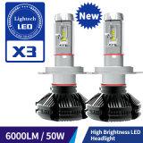 헤드라이트 (H11 H4 H7 9005 9006)를 모는 LED를 가진 6000lm H1 차 LED 헤드라이트 근원 50W LED 차 헤드 램프 전구