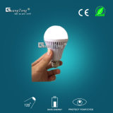 Lampadaire d'urgence rechargeable 7W / 9W LED Bulb Light China Factory