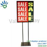 Bildschirmanzeige-Metallzeichen-Rahmen-Plakat-Standplatz-Halter für Supermarkt-Förderung