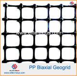 2020kn Biaxial Geogrid PP de plástico para parede de retenção