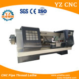 Alto torno del CNC de la cuerda de rosca de tubo de la configuración del alto rendimiento