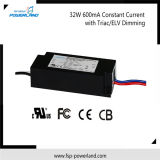 Haute efficacité 32W 600mA courant constant Triac / Elv Dimmable LED Driver