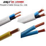 Câble plat électrique isolé par PVC en cuivre ou d'aluminium double
