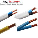 Cable doble plano eléctrico aislado PVC de cobre o del aluminio