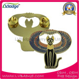 Placa esmalte suave del diseño del metal de encargo con el embrague de la mariposa