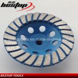 Продетые нитку абразивные диски поделенные на сегменты диамантом Turbo 5 дюймов чашки M14