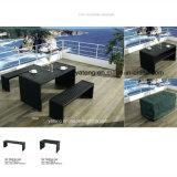 옥외 정원 긴 테이블 (YT376)에 의해 놓이는 Aluminum+PS 나무로 되는 가구 벤치