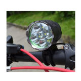 7000 Lumens 5X CREE Cycle Torch Night Bike Light com USB recarregável