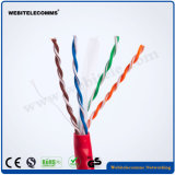 U/Cable de red no apantallado UTP Cat 6 par trenzado El cable exterior