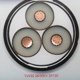 Meilleur prix en polyéthylène réticulé câble multiconducteur 3c de l'alimentation 120mm 150mm 185mm 240mm 300mm Câble de masse de puissance moyenne