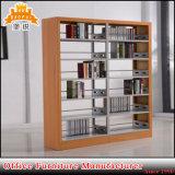 Estantes de madera del almacenaje del libro de la biblioteca del metal del color de la venta caliente Jas-064