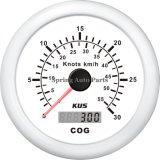 Indicateur de vitesse GPS 85 mm 30knots avec antenne d'accouplement avec rétro-éclairage pour yacht à bateaux