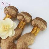 Corps de 100 % de cheveux humains Vague 3 faisceaux avec fermeture couleur 27# Virgin Remy Hair