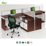2015 Holz Office Desk Connect durch Double Steel Support Office Furniture