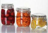 De gerecycleerde Fles van de Kruik van het Glas van de Opslag van het Voedsel van het Kruid van het Glas