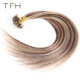 Desenhada duplo U Dica Cabelo liso Pre-Bonded Queratina Remy Extensões de cabelo da ponta da haste do cabelo Cabelo humano P6/613 Malaio#