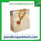 Sac de papier personnalisé par pliage de luxe d'impression de logo de luxe