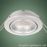 Dispositivo elétrico claro Recessed ajustável Downlight de teto da venda quente da venda por atacado do fabricante