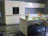 Gabinete de cozinha de madeira UV lustroso elevado moderno (ZH0967)