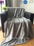 焼損デザインの明るく柔らかいフランネルの羊毛毛布
