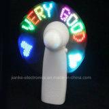 Lumière de message clignotant LED Mini ventilateur avec impression de logo (3509)