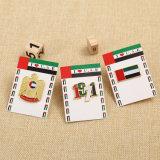 Pino de lapela UAE de alta qualidade personalizado com pacote de cartão de apoio