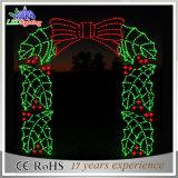 Luz ao ar livre do motivo do diodo emissor de luz do feriado da decoração do arco do Natal do diodo emissor de luz