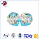 Impreso y en relieve del papel de aluminio Tapa para PP tazas de agua