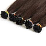Luz de cor castanha-Duplo Cabelos Brasileiro de ponta plana extensão de cabelo