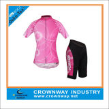 Women를 위한 주문 Sublimated Short Sleeve Cycling Suit