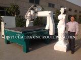 CNC de 4 linhas centrais com o giratório grande para a cinzeladura da escultura da espuma