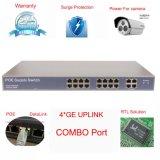 Interruptor portuario de 16 Poe con el precio de la promoción del modelo nuevo del acceso del Uplink de 4 GE (TS1600F)
