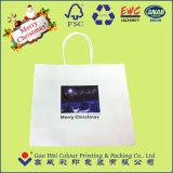Напечатано Kraft подарочный бумажный мешок с обработки бумаги