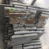 Comitato ed angolo rustici dell'impiallacciatura della pietra della parete del cemento della quarzite