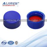 tubo de ensaio azul da cromatografia dos septos do silicone do tampão PTFE de 9mm PP