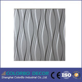 Papel de parede Textured, MDF 3D Wall Panel para Interior Decorations