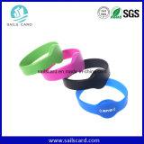 Wristband longo do silicone RFID da freqüência ultraelevada da distância da leitura