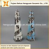 Tealightの創造的な装飾の陶磁器の灯台